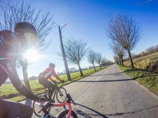 First ride in Belgium